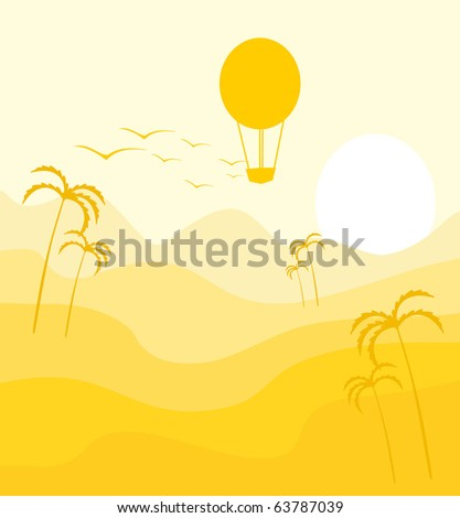 air ball in Africa - stock vector