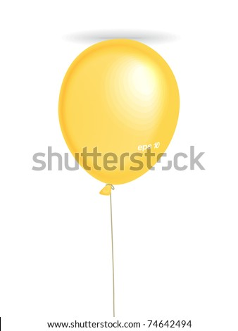 Air balllon. Place your text on it - stock vector