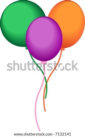 air balloons - stock vector