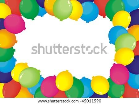 Air balloons frame - stock vector