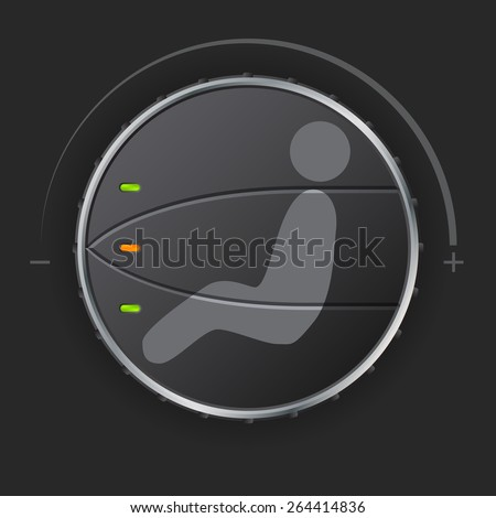 Air circulation control deck with leds for air contidioners - stock vector