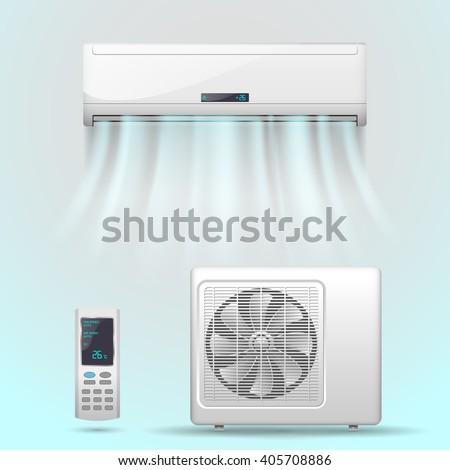 Air conditioner - stock vector