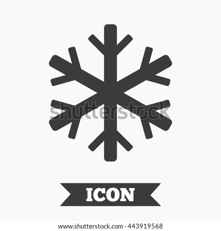 Air Conditioning Sign Icon Snowflake Symbol Stock Vector 443919568