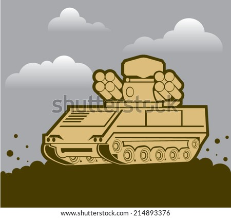 Air Defense Weapon - stock vector