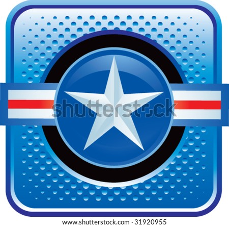 air force icon on web button - stock vector