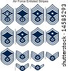 Air Force Stripes (Enlisted) - stock vector