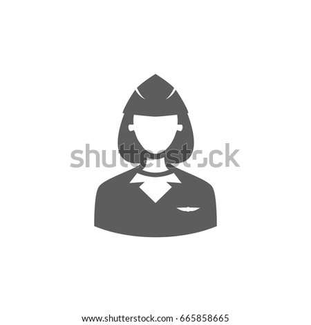 Air Hostess Icon Trendy Flat Style Stock Photo Photo Vector