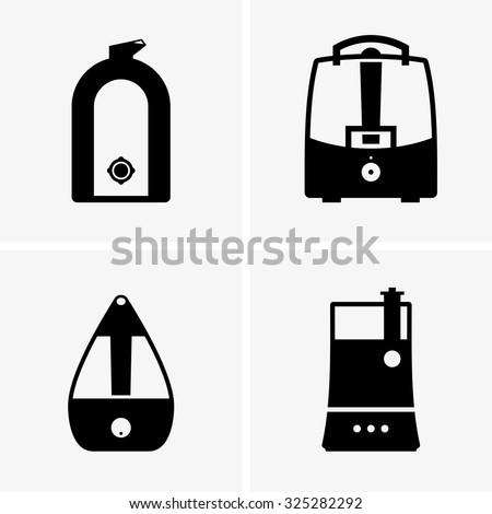 Air humidifiers - stock vector