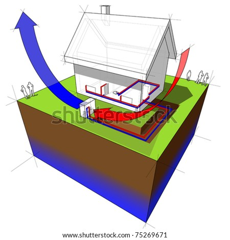 air-source heat pump diagram