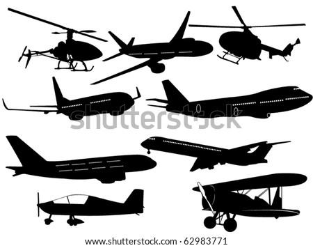 Air transportation - stock vector