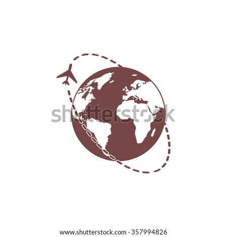 Air travel destination. Colorful vector icon. Simple retro color modern illustration pictogram. Collection concept symbol for infographic project and logo - stock vector