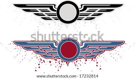 Air wings - stock vector