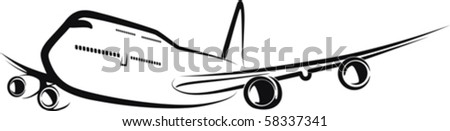 aircraft - stock vector