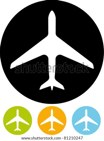 Aircraft carrier icon (Vector) - stock vector