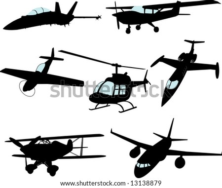 Aircraft Collection (VECTORS) - stock vector