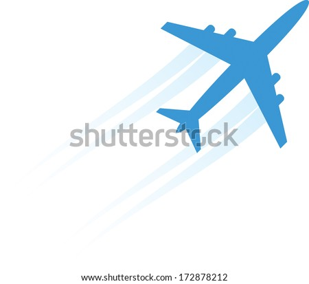Aircraft. Isolated on white background. Vector illustration - stock vector