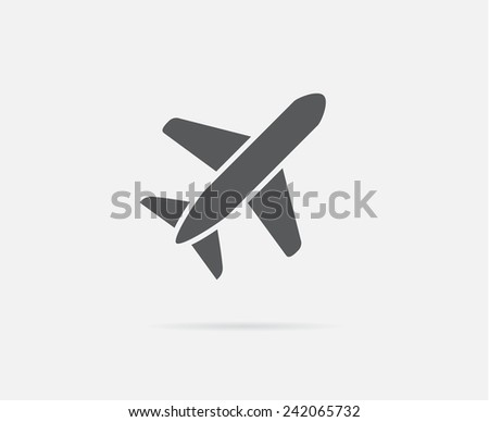 Aircraft or Airplane Icon Vector Silhouette - stock vector