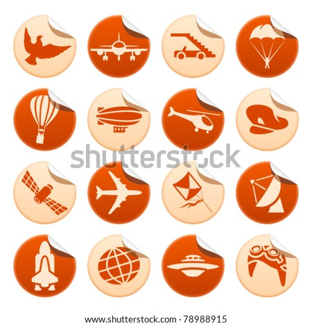 Aircraft stickers - stock vector