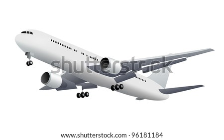 Aircraft. Vector illustration - stock vector