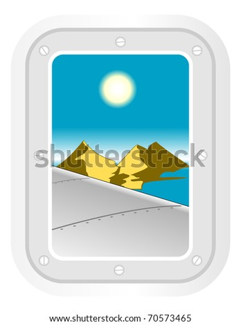 aircraft window. vector illustration 1