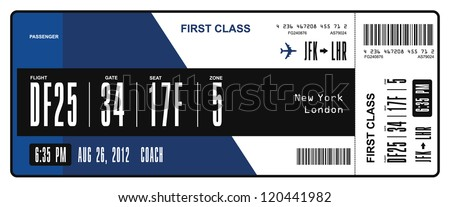 Airline boarding pass - stock vector