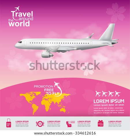 Airline Vector Concept Travel around the World