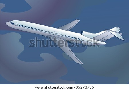 airliner - airplane - plane vector - stock vector