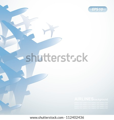 Airlines background - vector illustration - stock vector