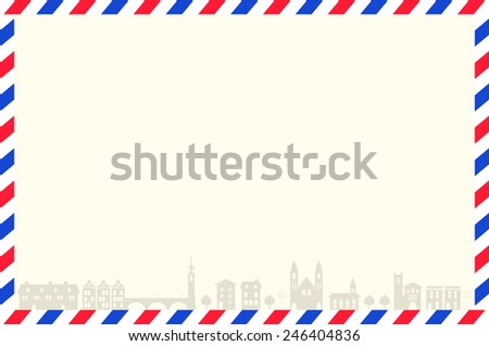 airmail - stock vector
