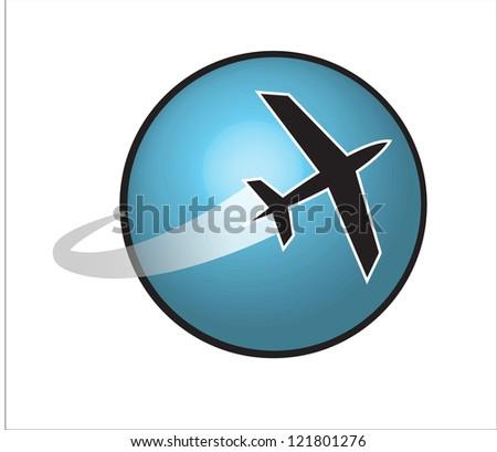 airplane - stock vector
