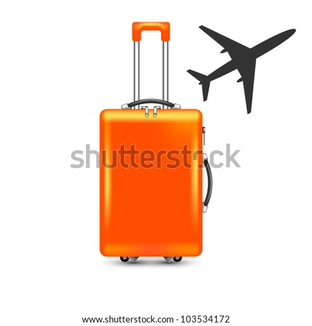 airplane and suitcase vector
