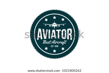 Airplane  Aviator vector