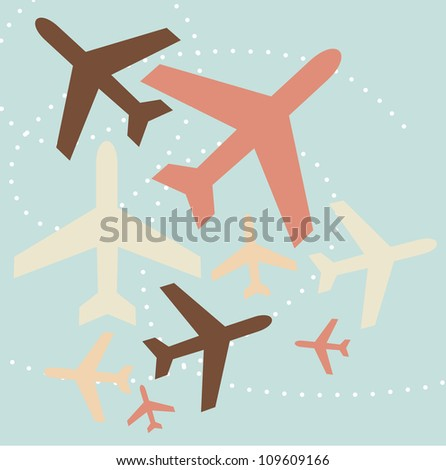 airplane background - stock vector
