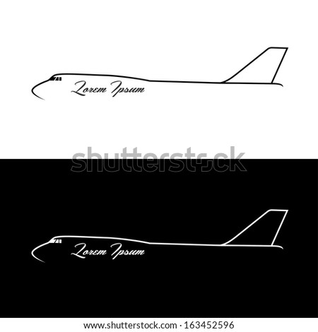 Airplane banner - vector illustration - stock vector