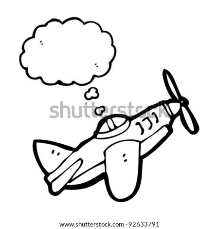airplane cartoon - stock vector