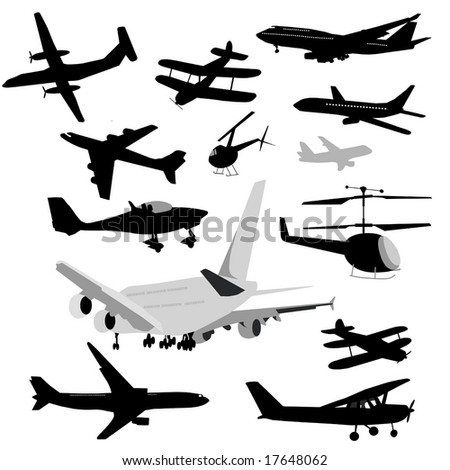 Airplane Collection vector is original artwork.