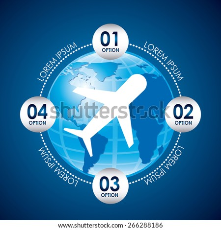 airplane concept design, vector illustration eps10 graphic  - stock vector