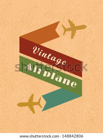 airplane design over pink background vector illustration  - stock vector