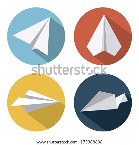 Airplane Design over  white background vector illustration - stock vector