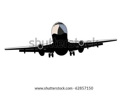 Airplane face - stock vector