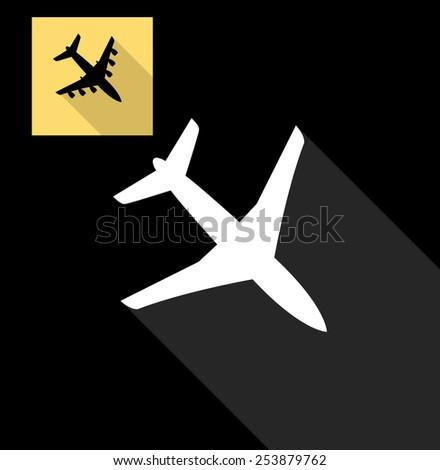 Airplane icon - stock vector