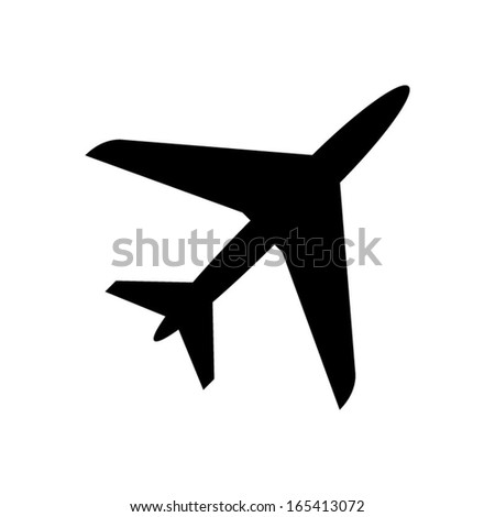 Airplane Icon - vector - stock vector