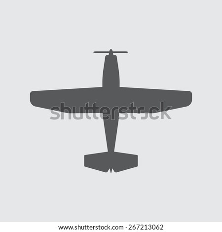 Airplane icons with screw. Vector plane silhouette. - stock vector