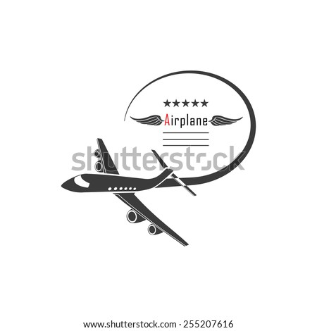Airplane logo - stock vector