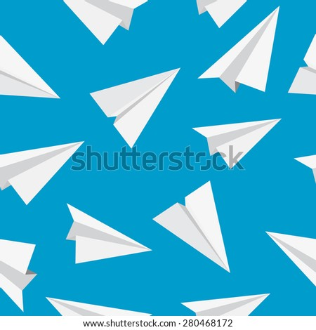 Airplane Seamless Pattern Background Vector Illustration. EPS10 - stock vector