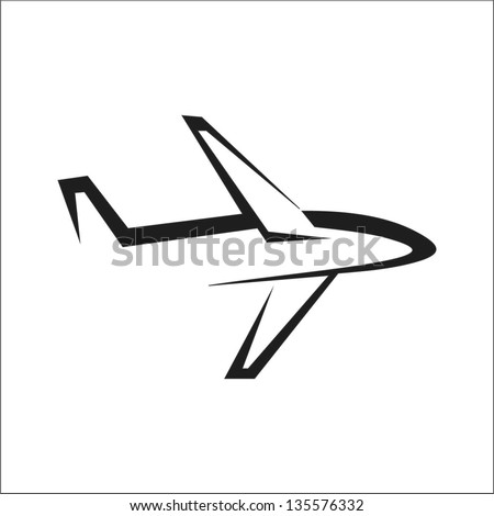 airplane - stylized vector illustration - stock vector