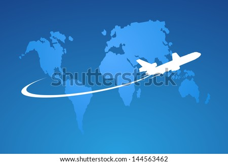 Airplane symbol vector design - stock vector