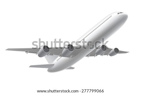 Airplane take off - stock vector
