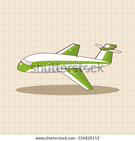 airplane theme elements vector,eps - stock vector