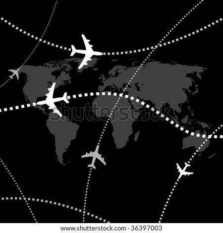 Airplane transport VECTOR - stock vector